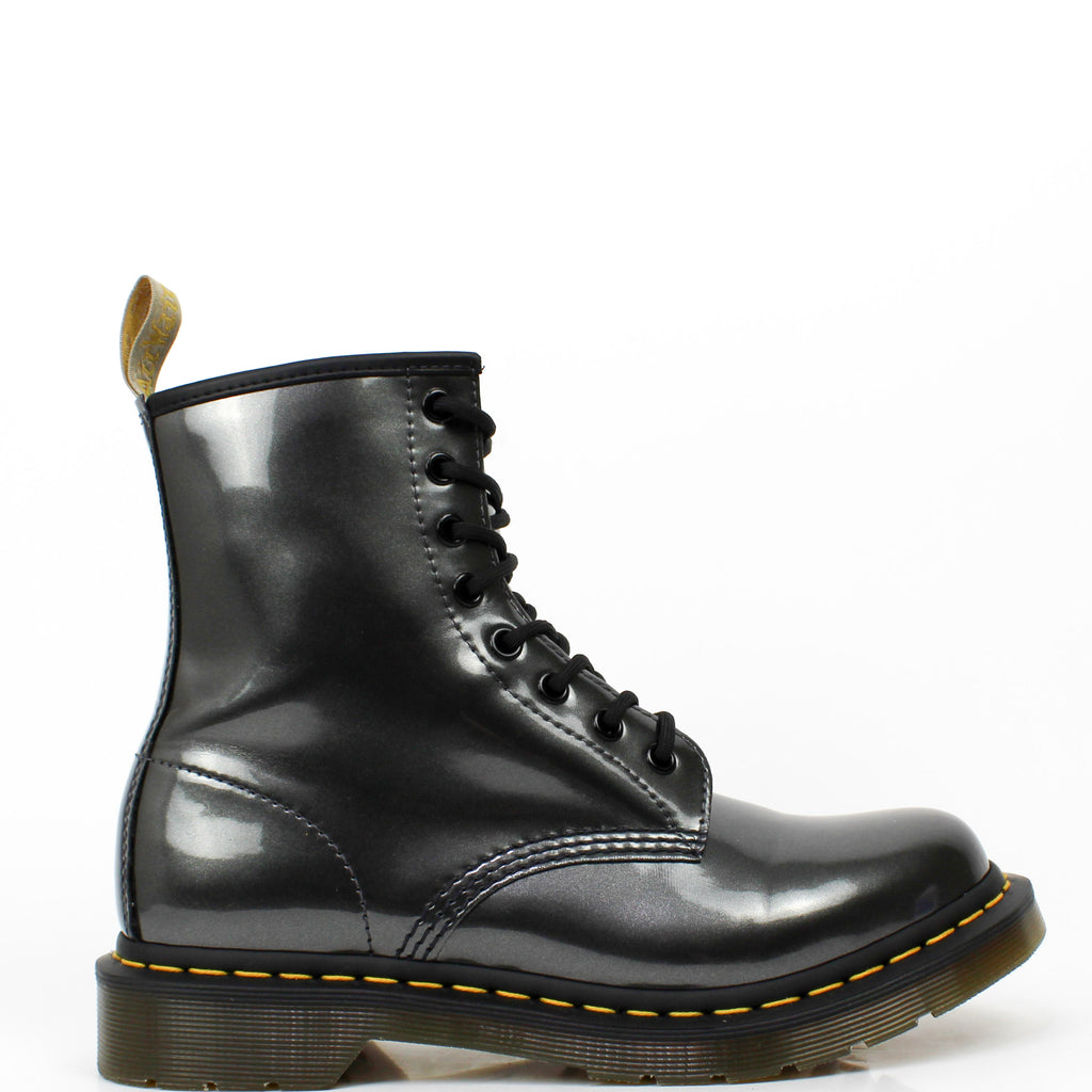 Vegan 1460 Boots Gunmetal Chrome