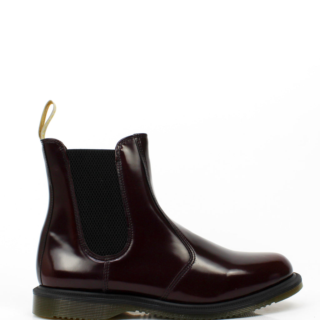 Vegan Flora Chelsea Boots Cherry Red