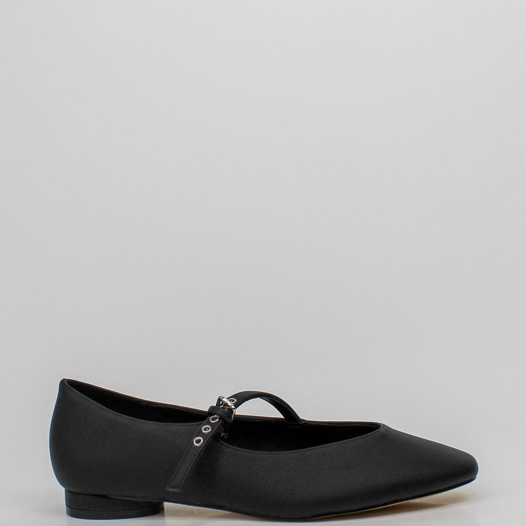 Anais Mary Jane Flats Black