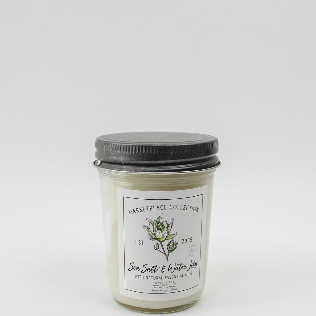 Sea Salt & Water Lily Marketplace Candle 7 oz