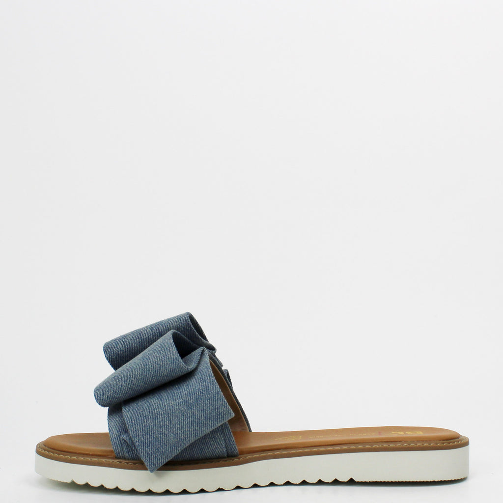 Fun For All Ages Slides Light Blue Denim