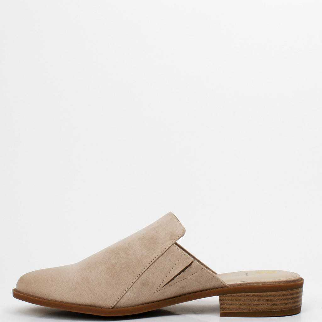 Look At Me Mule Flats Taupe