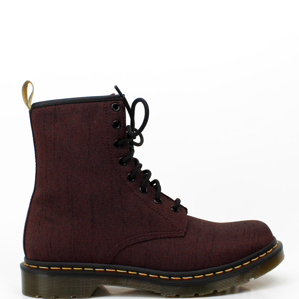 Vegan Castel Boots Cherry Red Serge