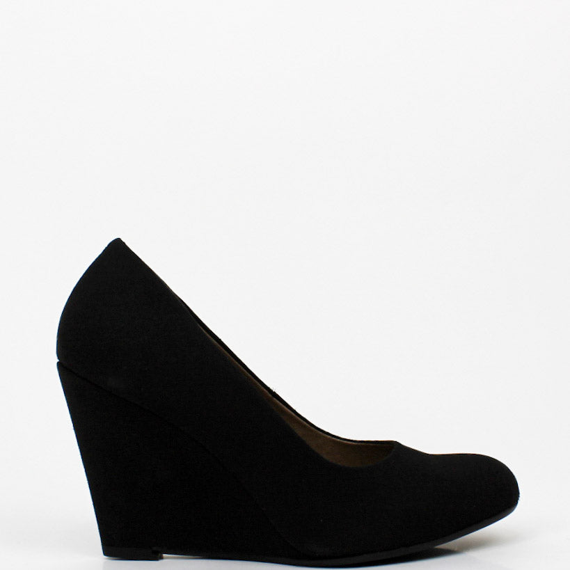 Melisa Wedge Heel Pumps Black