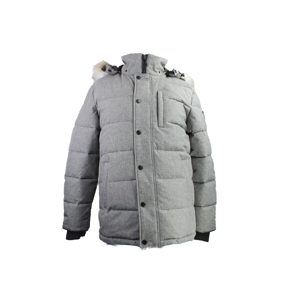CALLUM Mid Length Parka Grey Mix