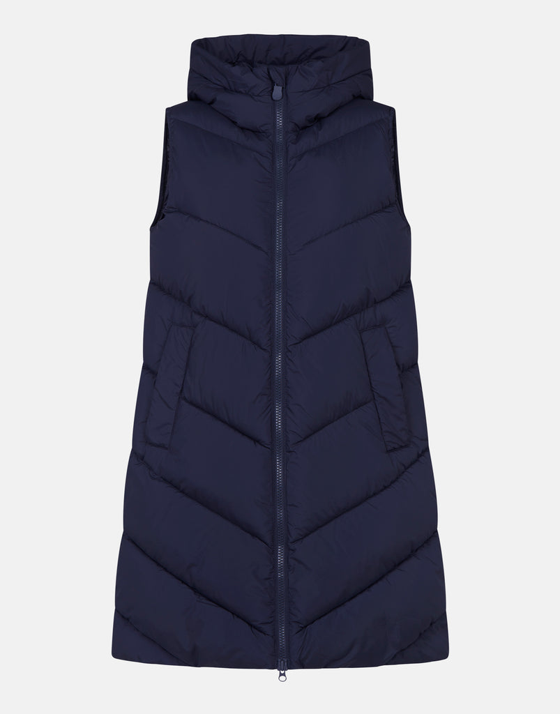RECYCLED Longline Vest Blue Black