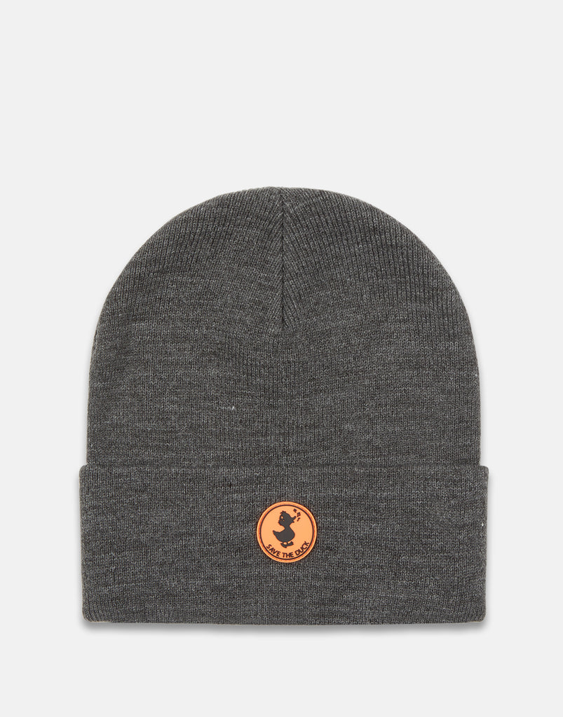 Smooth Knit Beanie Charcoal Grey Melange