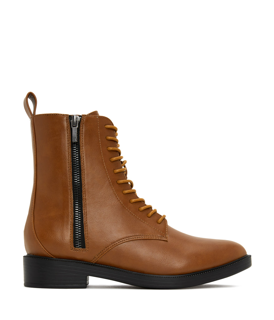 Morton Combat Zip-Up Boots Chili