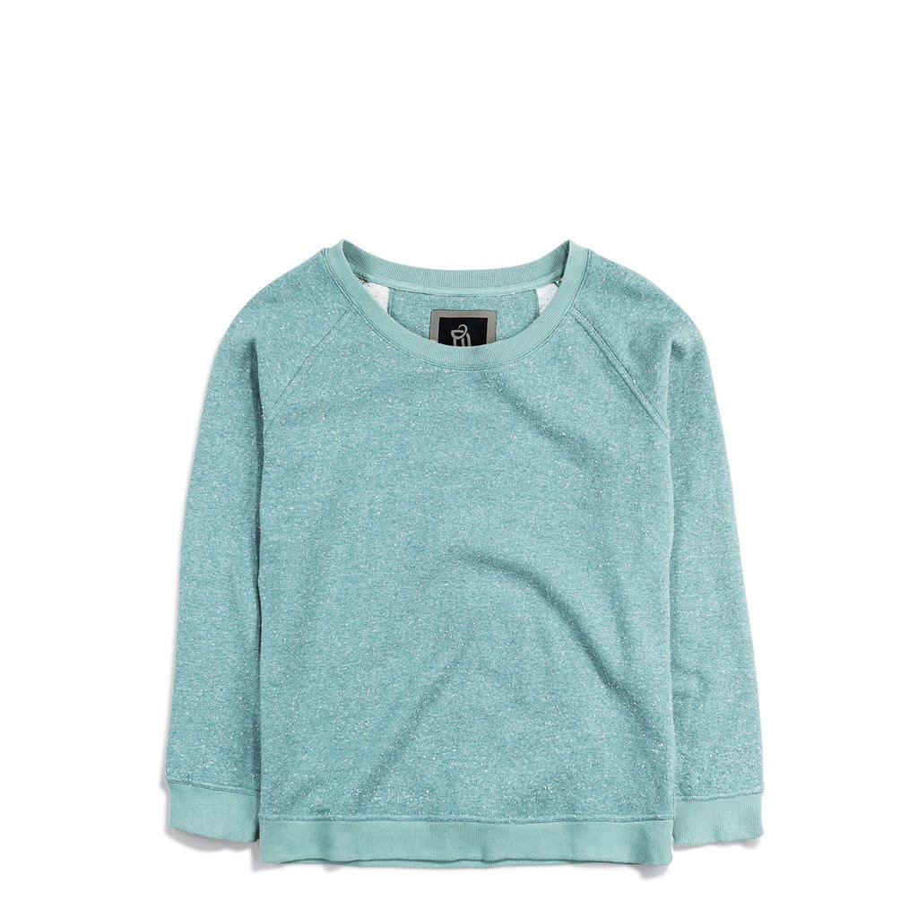 Ladies' Light Crewneck Sweater Clear Blue Fleck