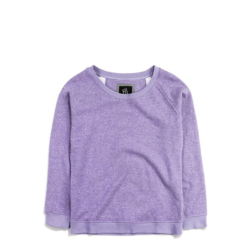 Ladies' Light Crewneck Sweater Clear Lavender Fleck