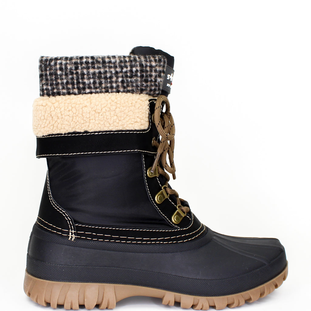 Creek Winter Boots Black Tweed