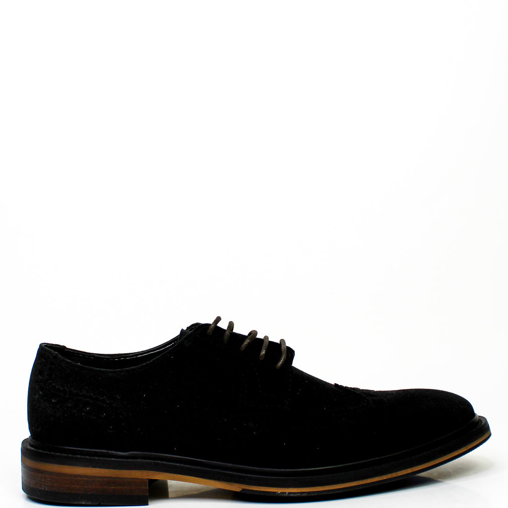 Elton Brogue Shoes Black