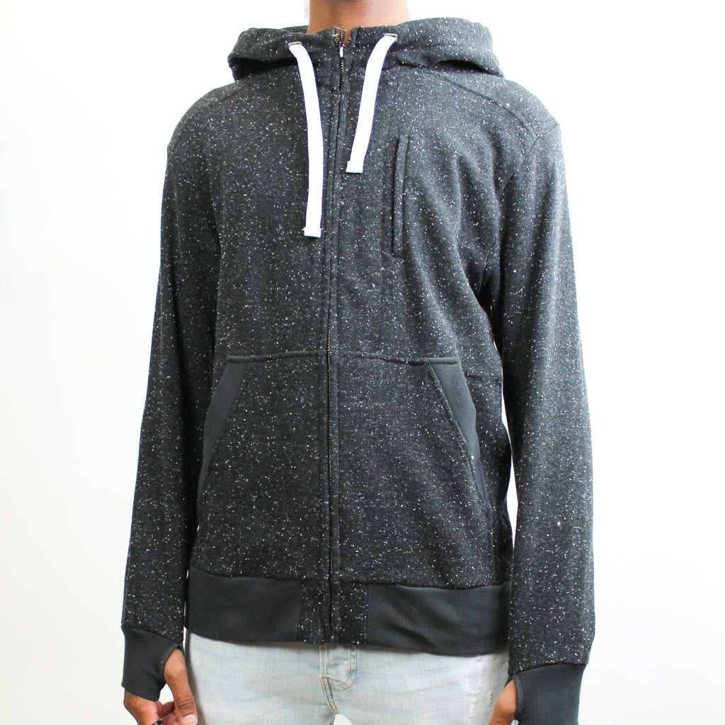 Men's Light Hoodie Black Fleck
