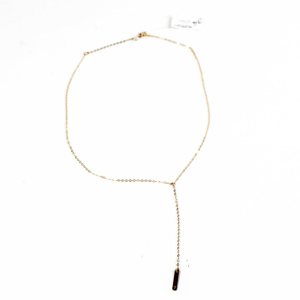 'V' 14k Gold Fill Necklace