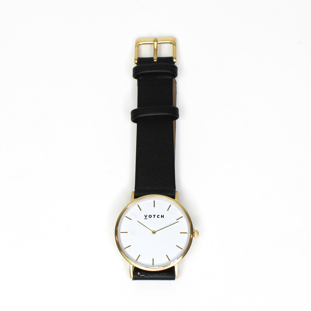Votch The Black & Gold Classic Watch