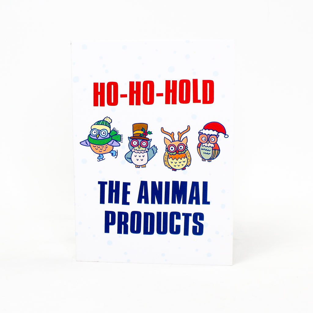 Ho-Ho-Hold The Animal Products Greeting Card