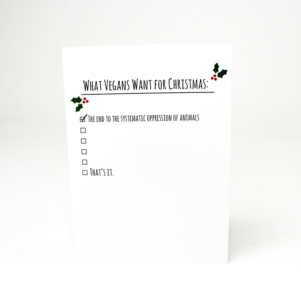 Christmas List Greeting Card