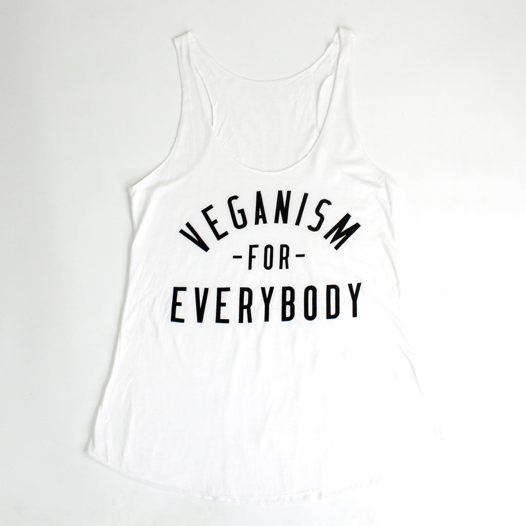 Veganism For Everybody Tank Top White