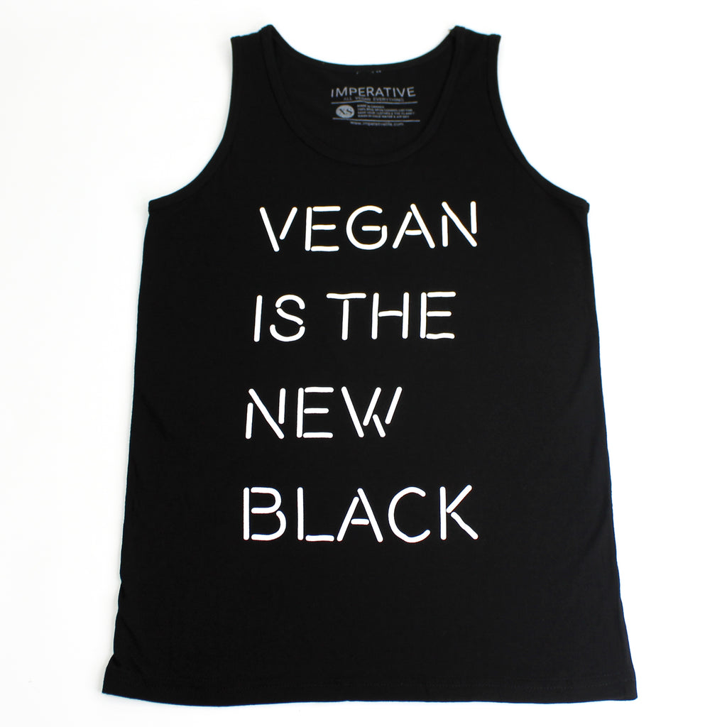 Vegan Is the New Black Tank Top Black