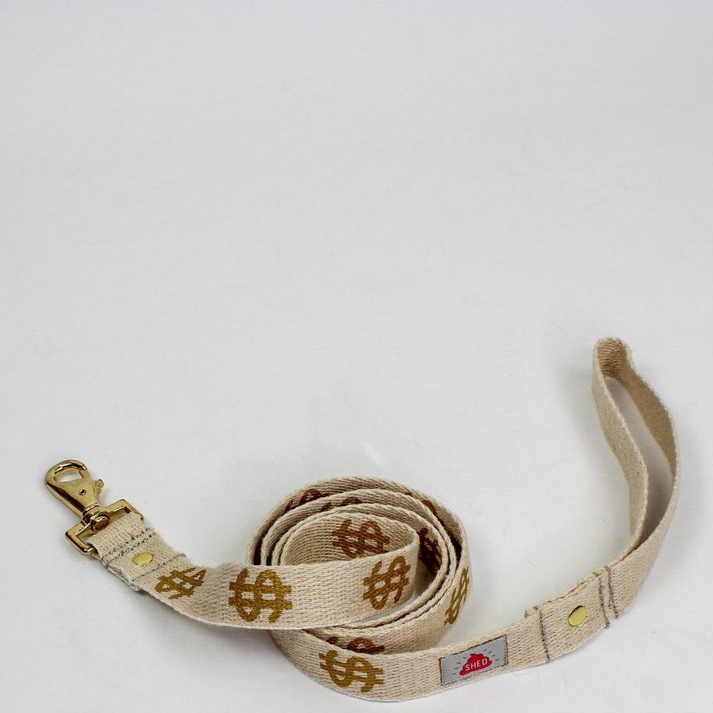 Dollar Dog Leash Gold