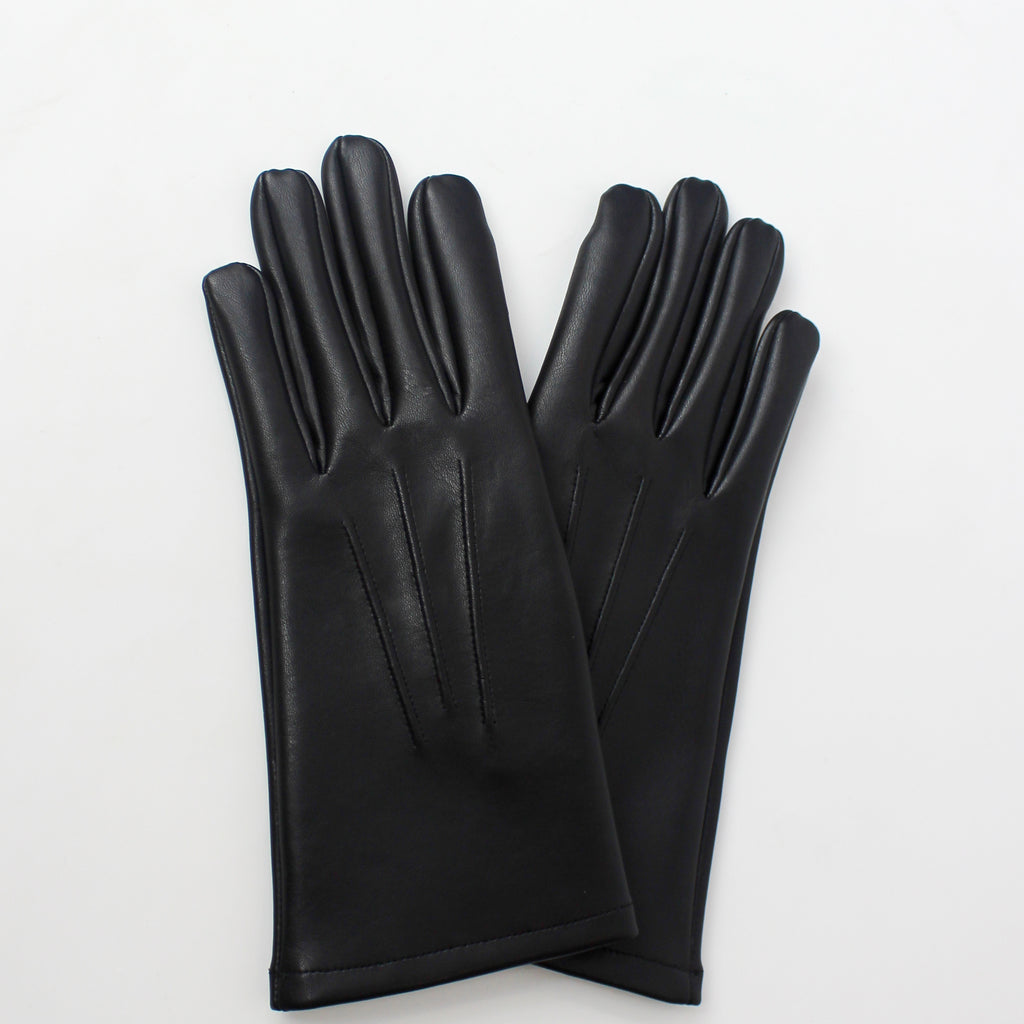 Vegan Leather Gloves Black