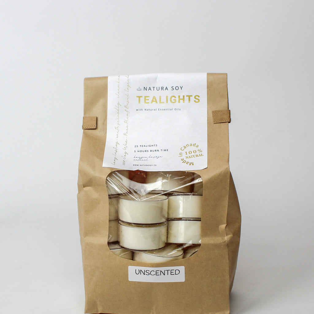 Unscented Tealights 25 Pack