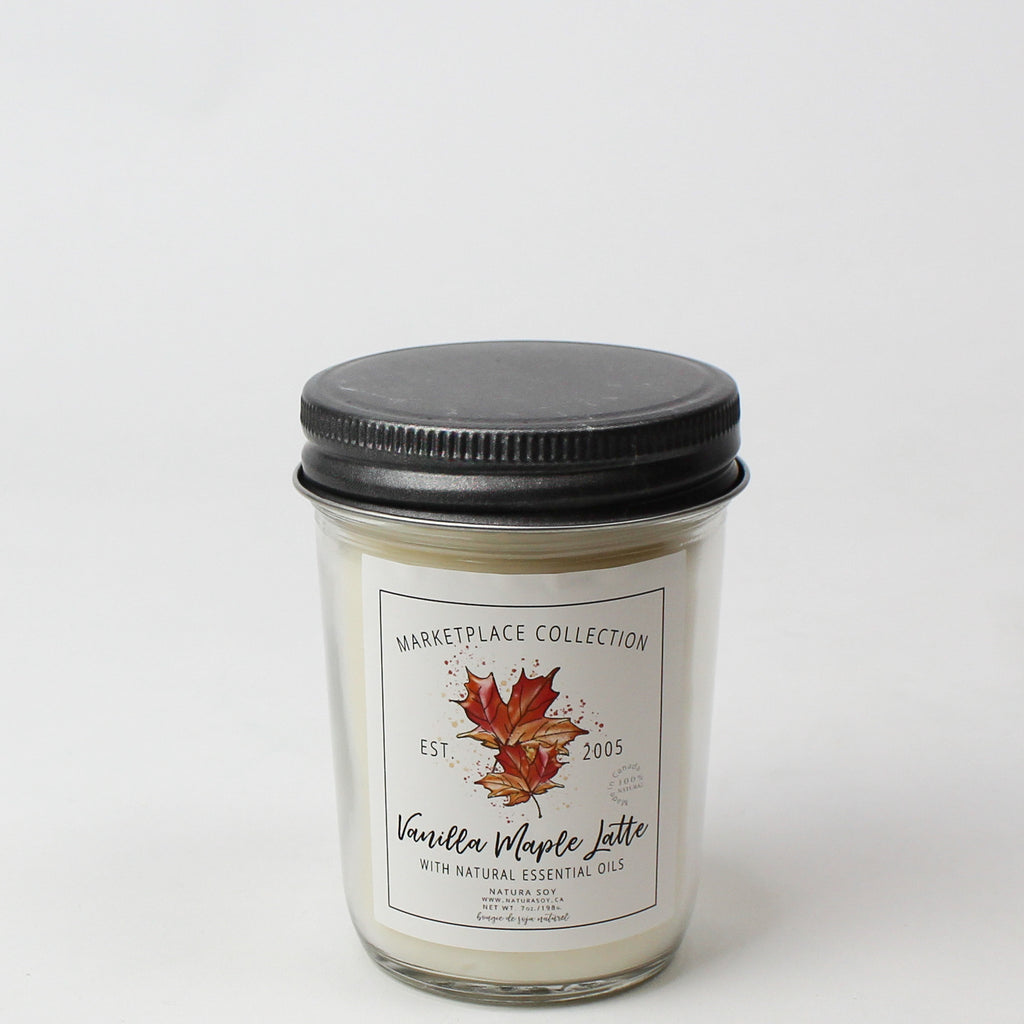 Vanilla Maple Latte Marketplace Candle 7 oz