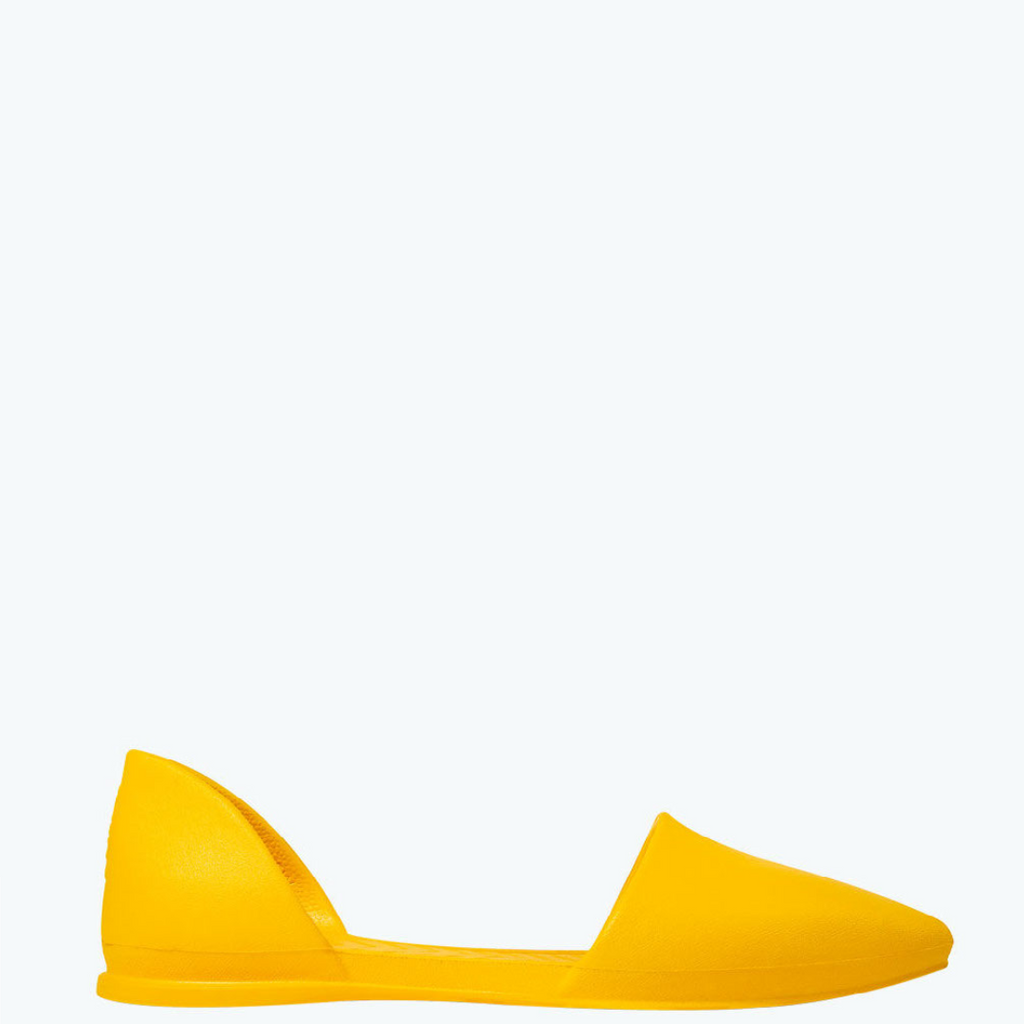 Audrey D'Orsay Flats Groovy Yellow