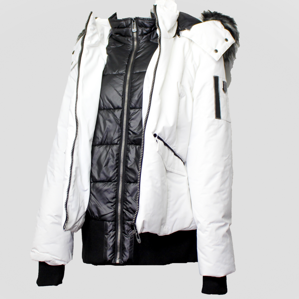 Maple Bomber Jacket Winter White
