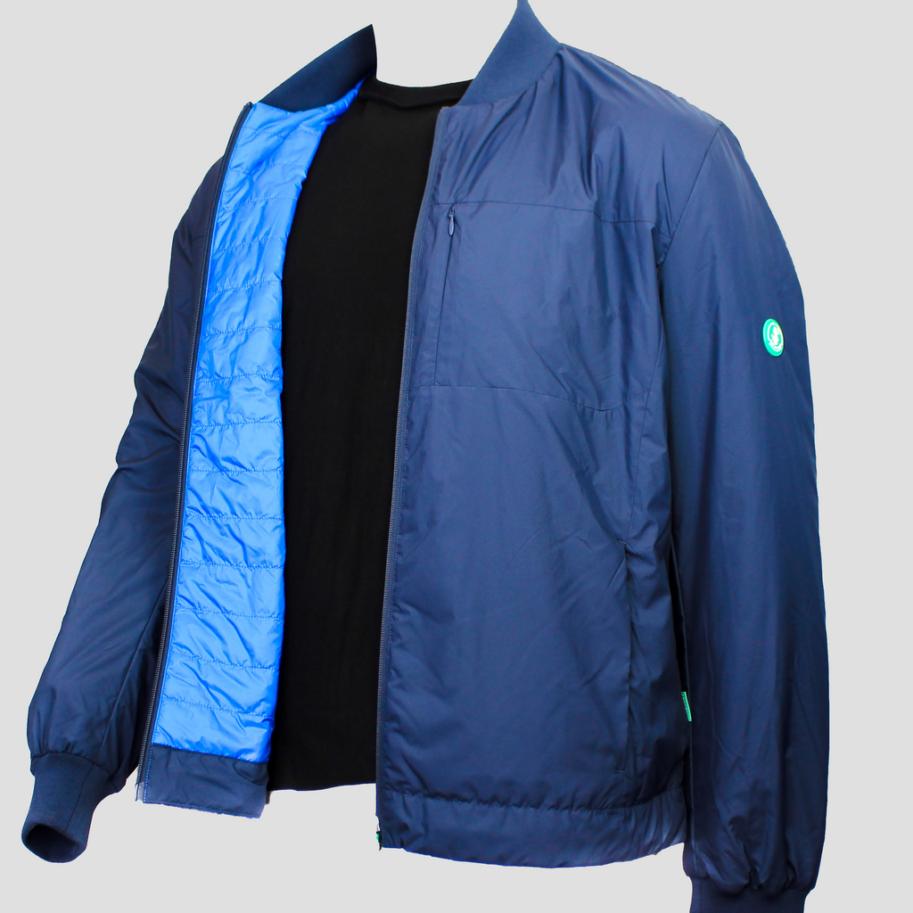 Recycled Bomber Navy Blue
