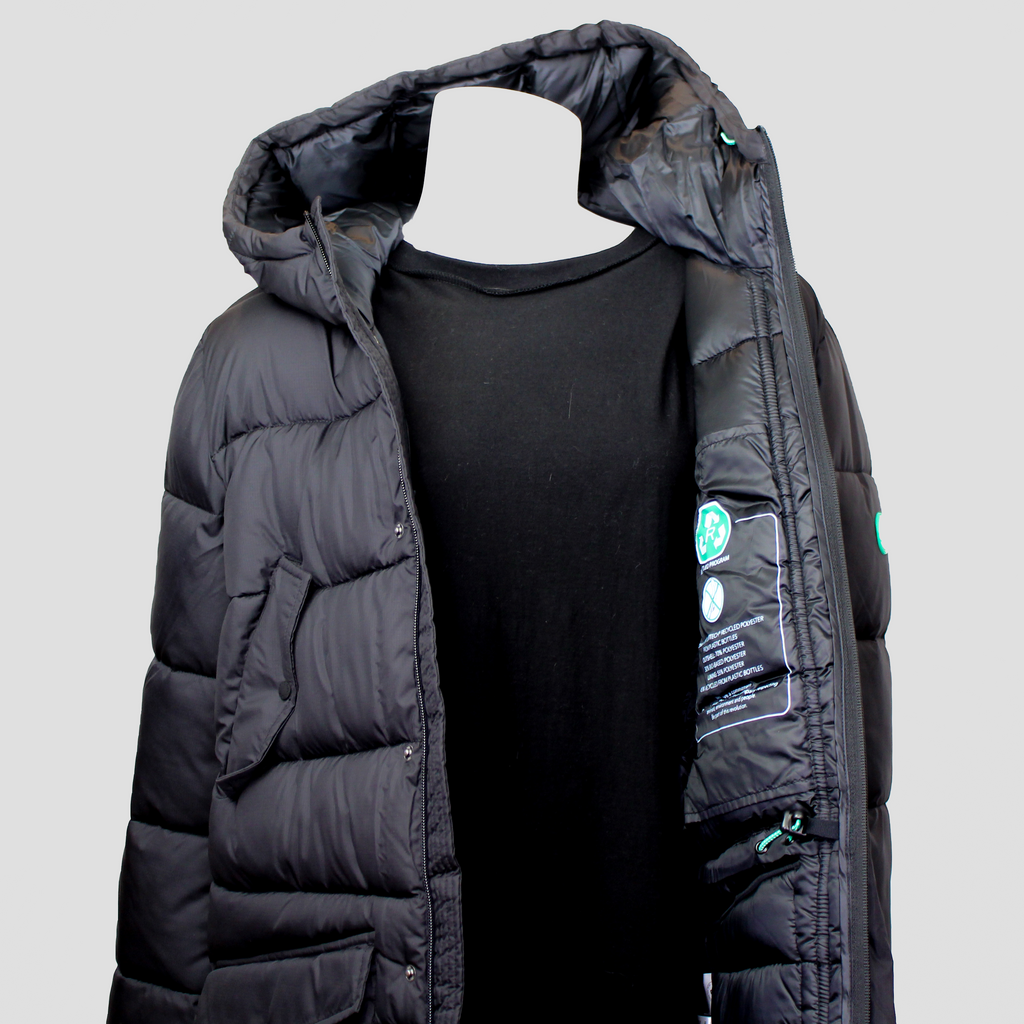 Recycled Program Warm Hooded Parka Black