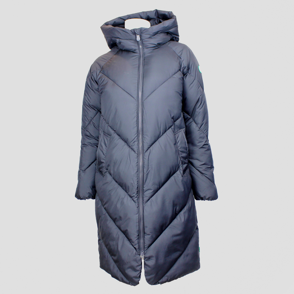 Recycled Hooded Coat Ebony Grey