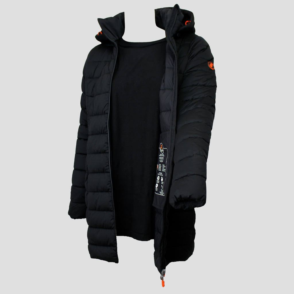 Sold Hooded Coat Black