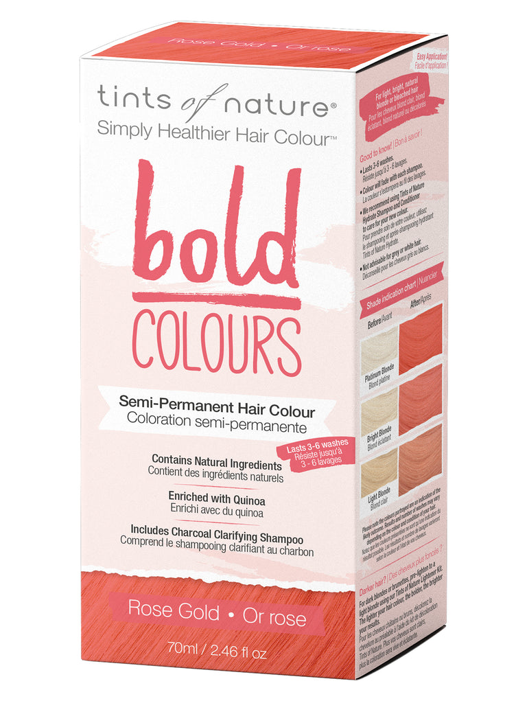 Bold Colours Rose Gold Semi-Permanent Hair Colour