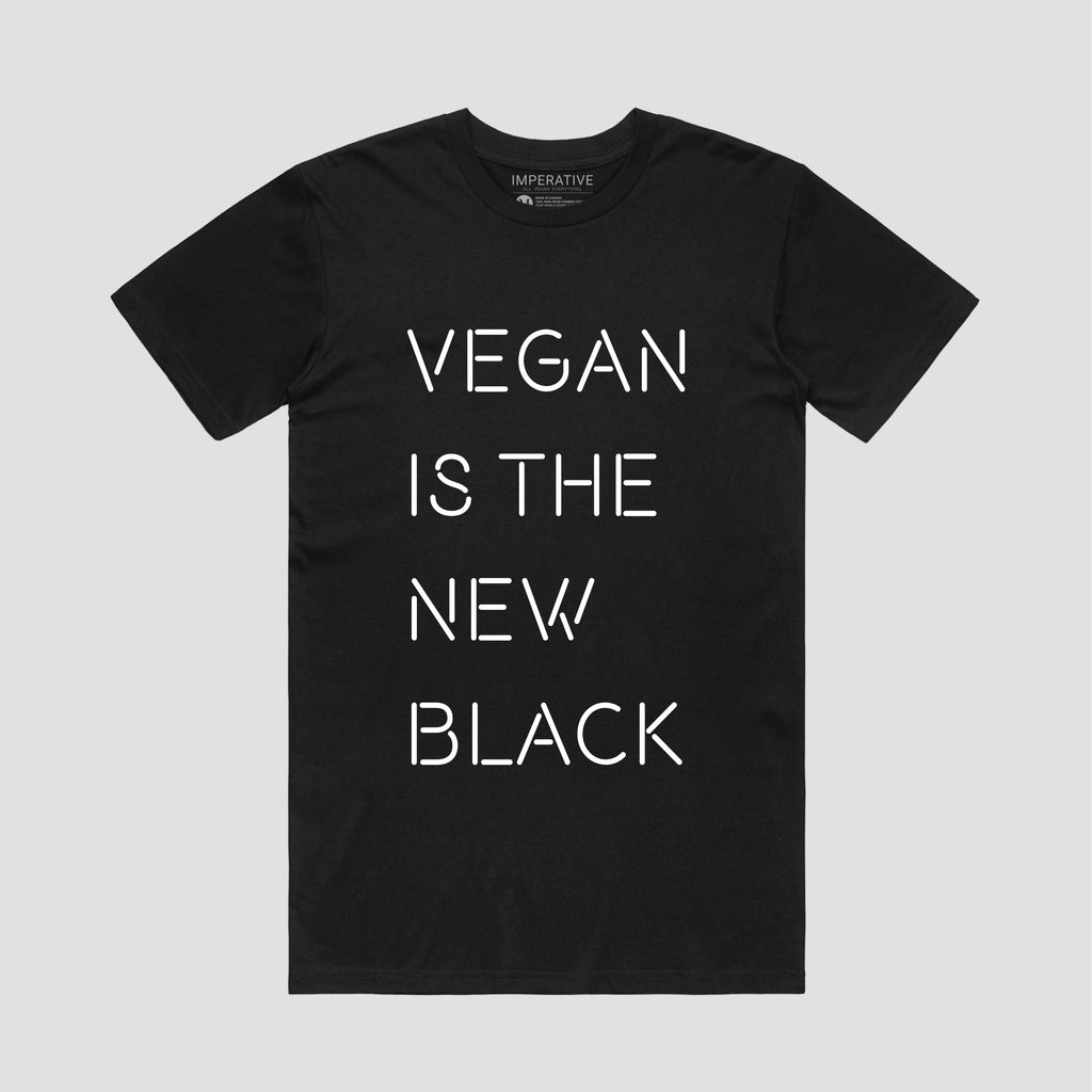 Vegan Is The New Black T-Shirt Black