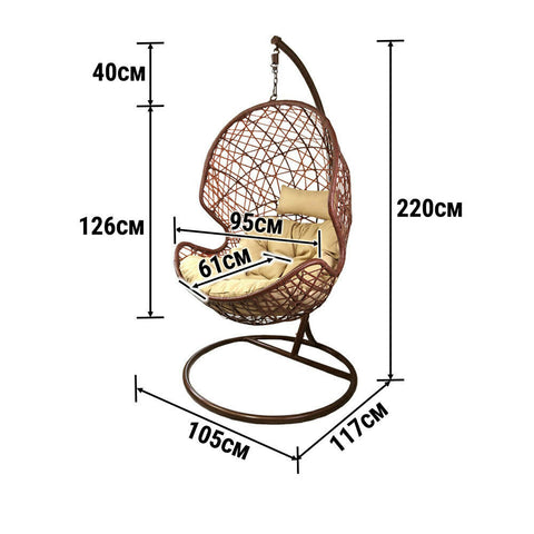 dimension hanging egg swing chair