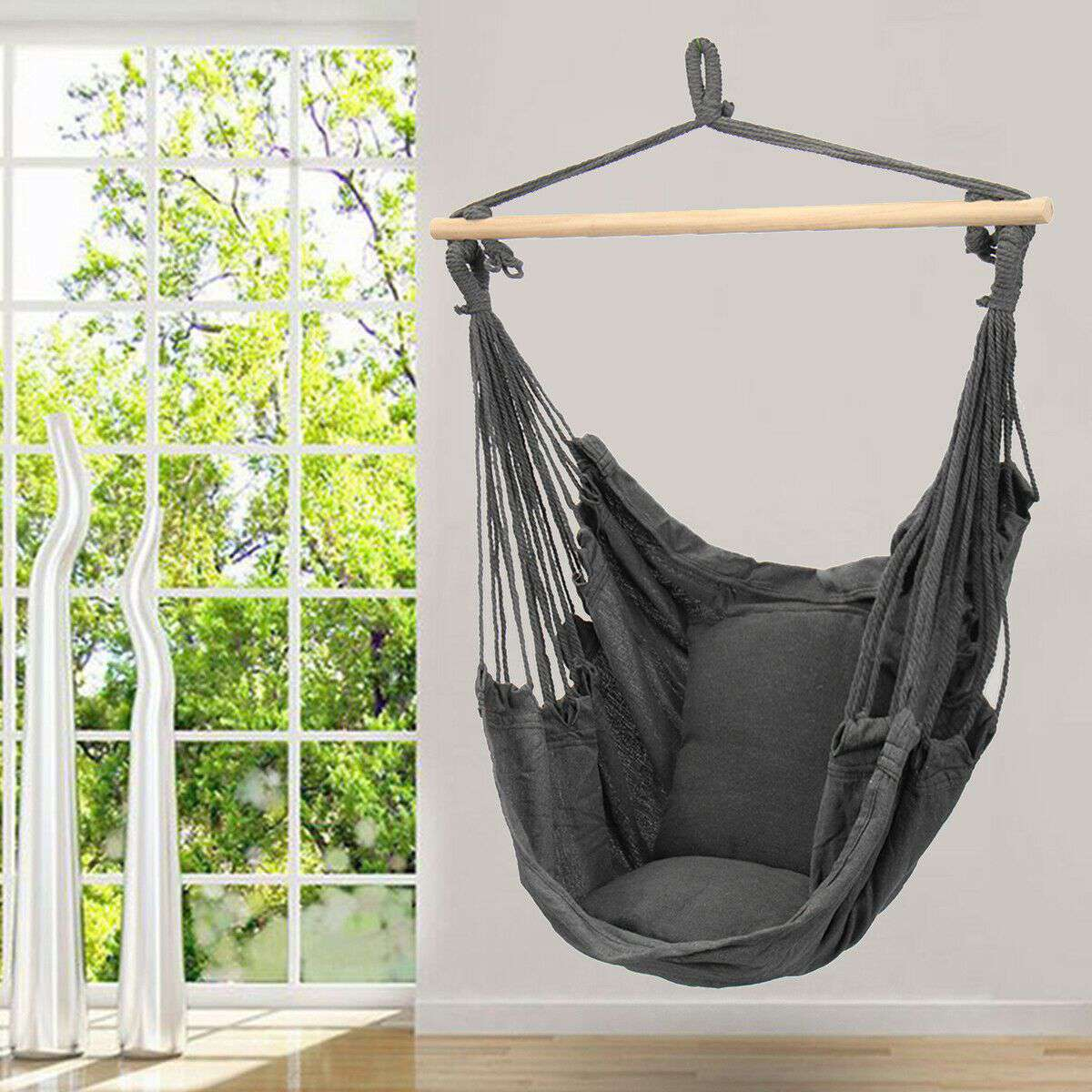 Deluxe Hanging Chair in Grey Colour