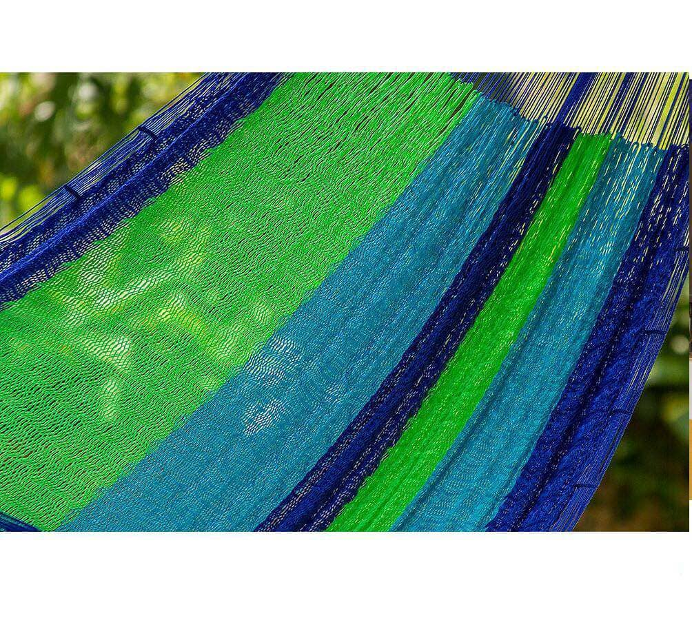 Cotton threads of Mexican Hammocks in the Caribbean Blue