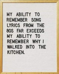 Song lyrics of the 80s