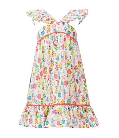 Little Girls Pineapple-Printed A-Line Dress