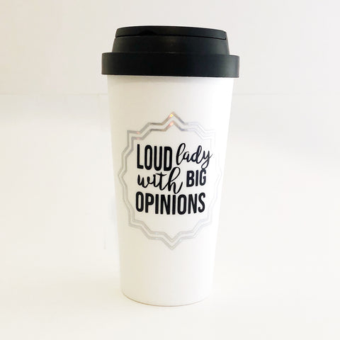 The Golden Type - Loud lady with big opinions coffee mug, travel mug