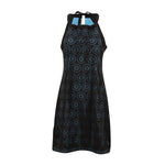 Brooklyn Laser Cut Halter Dress