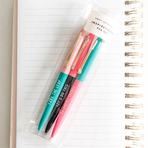 Sweet Water Decor - Inspirational Pen Set