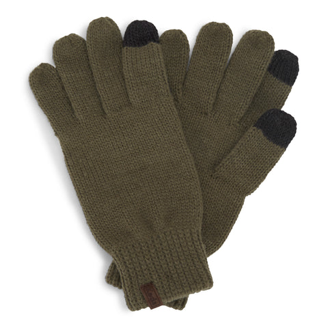 Flat Knit Gloves for Women (Elmwood Color)