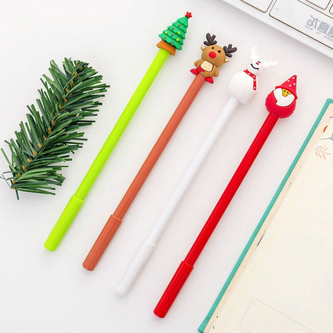 Cartoon Christmas Pens (Set of 4)