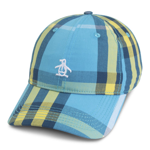 Blue Green Check Baseball Cap Original Penguin