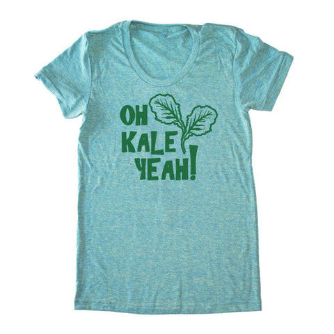 Bad Pickle Tees - Oh Kale Yeah® Women's T-Shirt | Seafoam Green
