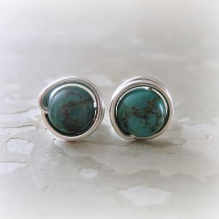 Turquoise Sterling Stud Earrings