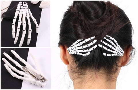 Skeleton Hand Hairclip