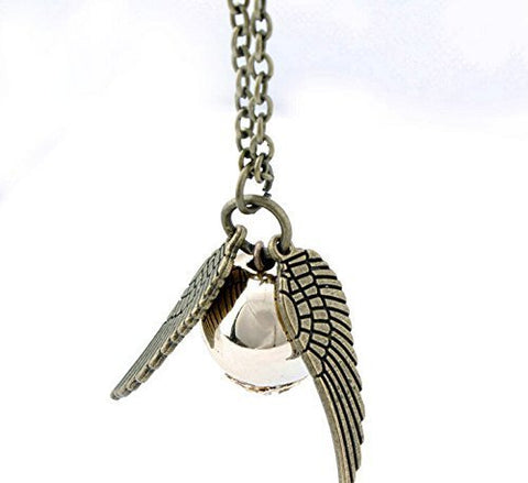 Harry Potter Golden Snitch Golden Pearl Necklace